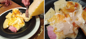 ヴァンサンのワインにびったりのラクレットチーズ